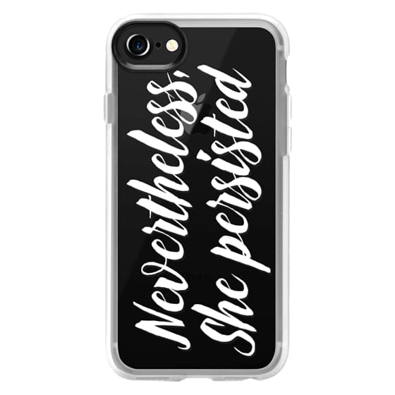 iPhone 4 Cases - Modern quote typography meme trendy nevertheless she persisted by Girly Trend