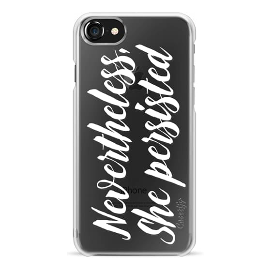iPhone 7 Cases - Modern quote typography meme trendy nevertheless she persisted by Girly Trend
