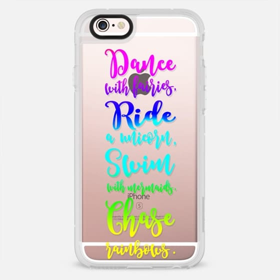 Trendy typography fairies, unicorns, mermaid and rainbows watercolor by GIlry Trend - New Standard Case