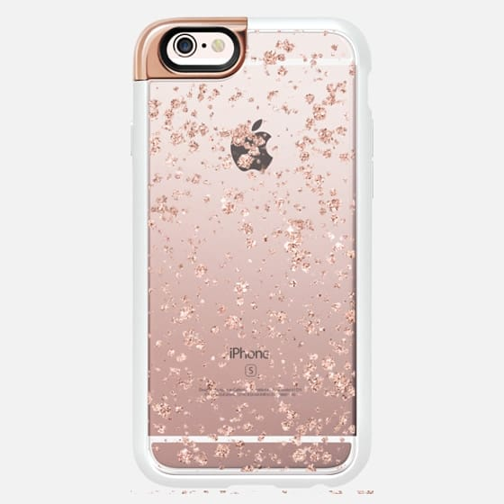 Modern faux rose gold splatters confetti brushstrokes by Girly Trend -