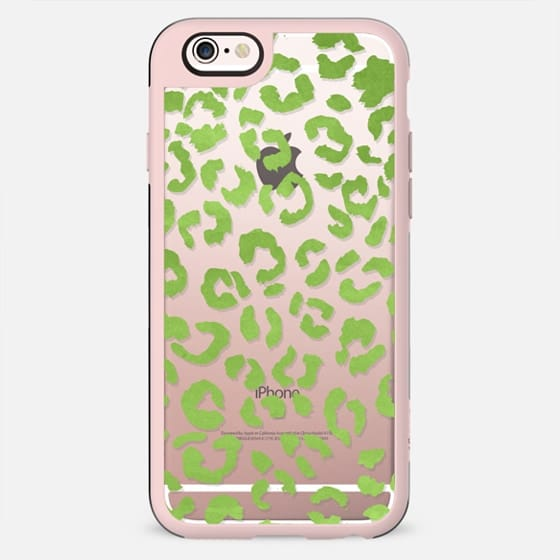 Modern greenery watercolor ombre green leopard pattern by Girly Trend - New Standard Case