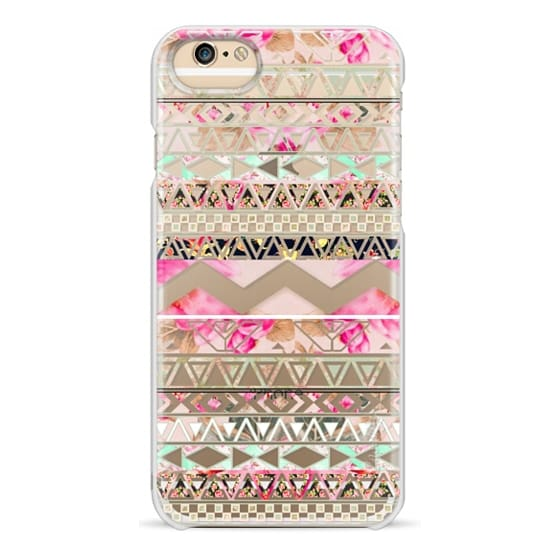 iPhone 4 Cases - Pink floral aztec pattern transparent by Girly Trend
