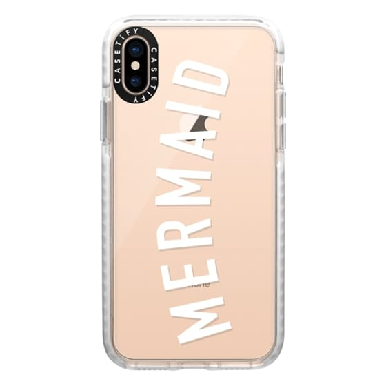 iPhone XS Cases - Simple mermaid typography white quote by Girly Trend