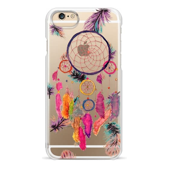 iPhone 6s Cases - Modern boho watercolor pink yellow dreamcatcher and feathers pattern hand paint transparent by Girly Trend