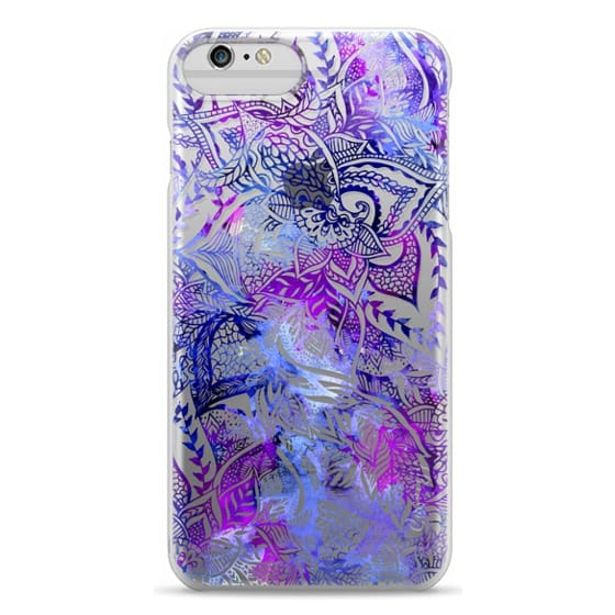 iPhone 6 Plus Cases - Purple blue watercolor floral lace mandala hand drawn illustration by Girly Trend