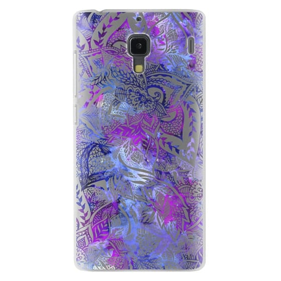 Redmi 1s Cases - Purple blue watercolor floral lace mandala hand drawn illustration by Girly Trend