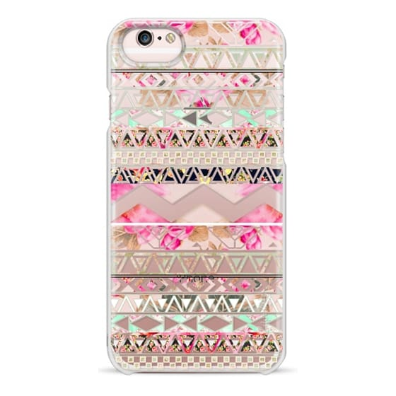 iPhone 6s Cases - Pink floral aztec pattern transparent by Girly Trend