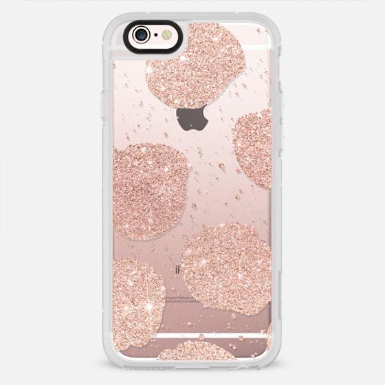 Modern rose gold glitter big dots paint splatter pattern by Girly Trend - New Standard Case