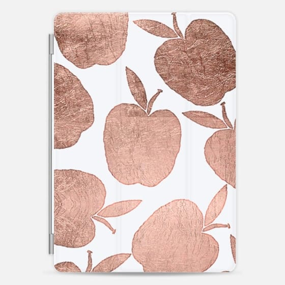Rose gold apples pattern back to school by Girly Trend -
