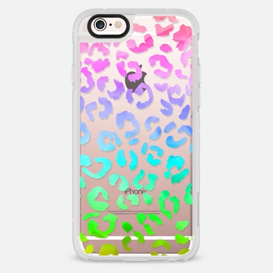 Watercolor neon rainbow hand drawn leopard pattern by Girly Trend - New Standard Case