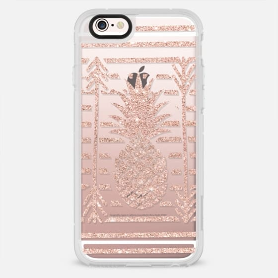 Modern rose gold arrows atripes pineapple illustration by Girly Trend - New Standard Case