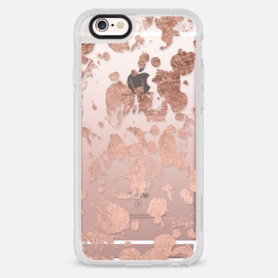 Modern abstract rose gold foil paint splatters by Girly Trend - New Standard Case