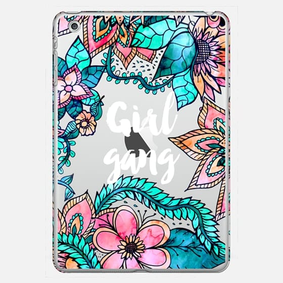 Modern floral watercolor illustration Girl gang typography by Girly Trend - Classic Snap Case