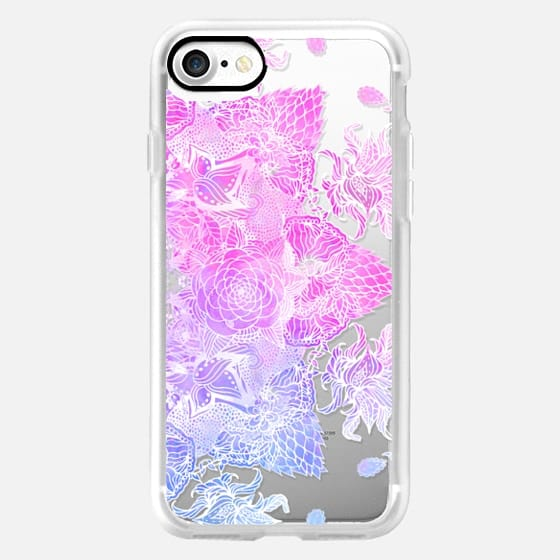 Pink purple watercolor hand drawn mandala illustration by Girly Trend