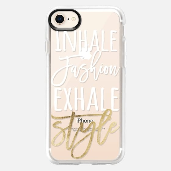 Modern fashion and style quote typography white faux gold foil - Snap Case