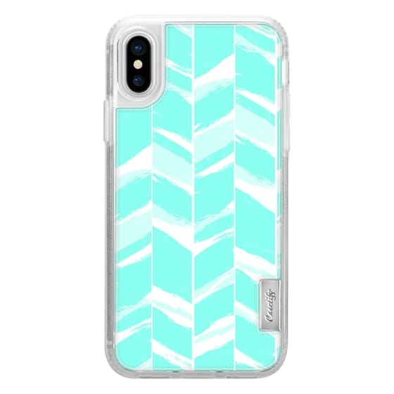 iPhone 6s Cases - Modern abstract turquoise teal geometric chevron pattern by Girly Trend