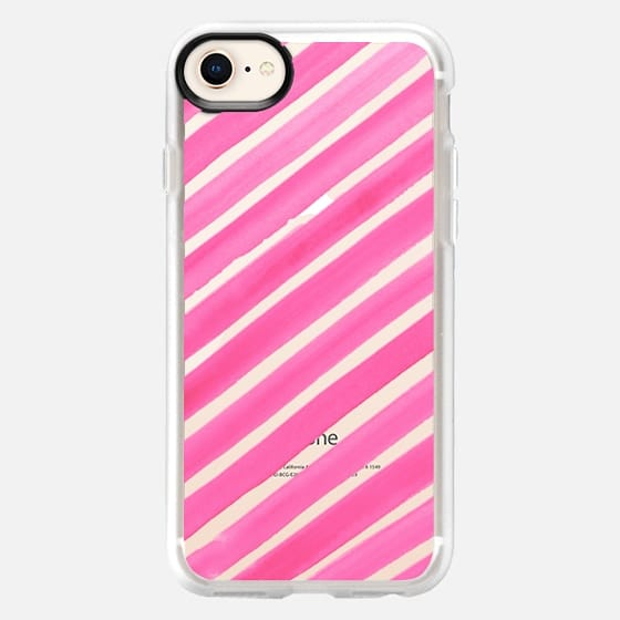 THE SWEET STRIPE- PINK - Snap Case