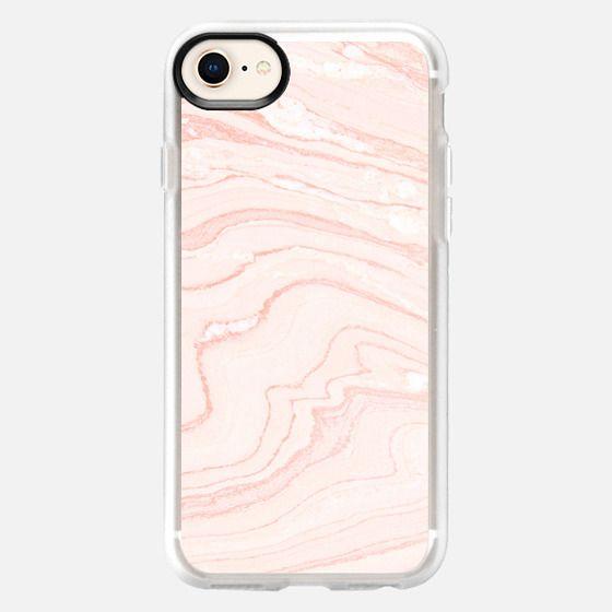 Blush Marble - Snap Case