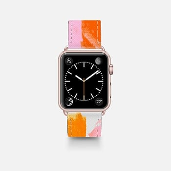 Leather Watch Band -  A Vision in Blush