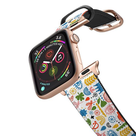 CASETiFY Apple Watch Band (42mm/44mm) Saffiano Leather Watchband V4 - Symbols Apple Watch Band by Li