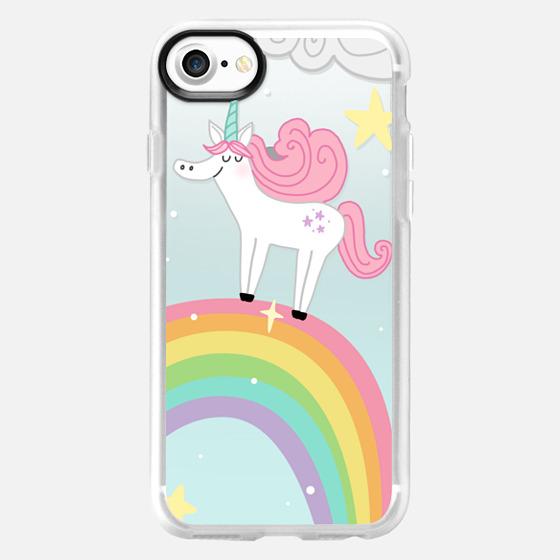 Joyful Unicorn - Blue - Wallet Case