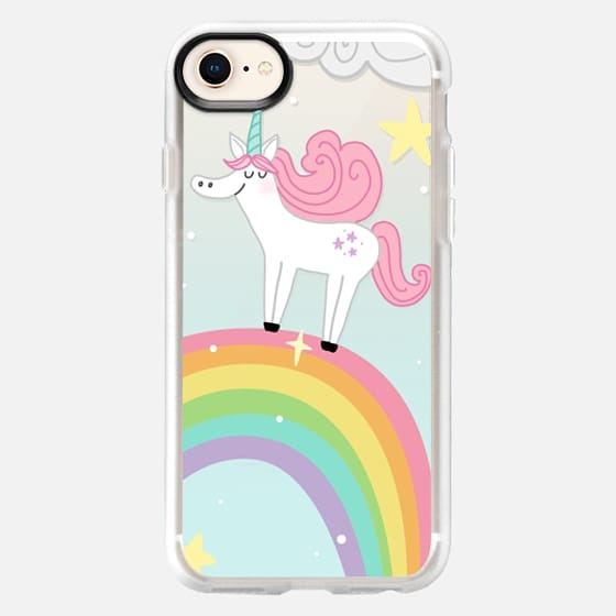Joyful Unicorn - Blue - Snap Case