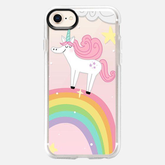 Joyful Unicorn - Pink - Snap Case