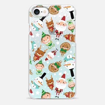iphone 7 case christmas crew blue