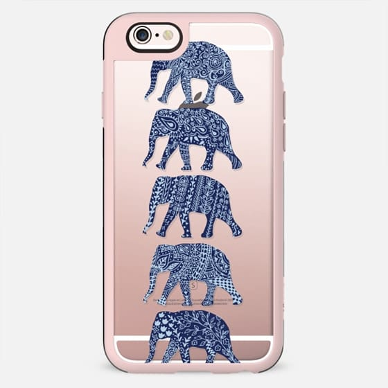 Patterned Elephants(navy) - New Standard Case