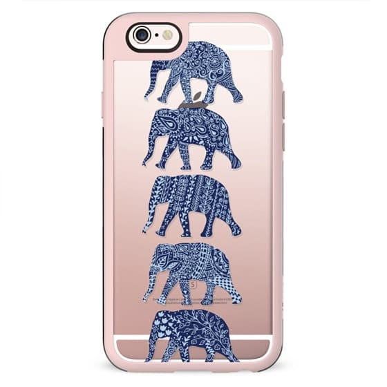 Patterned Elephants(navy)