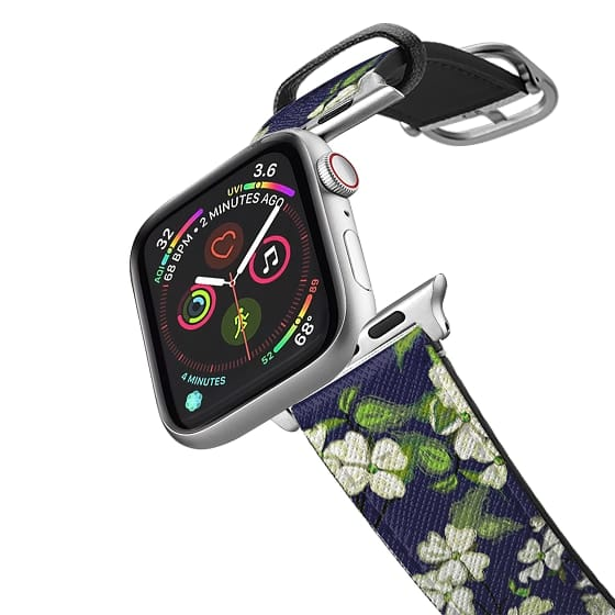 Apple Watch 38mm Bands - April blooms(Dogwoods-blue)