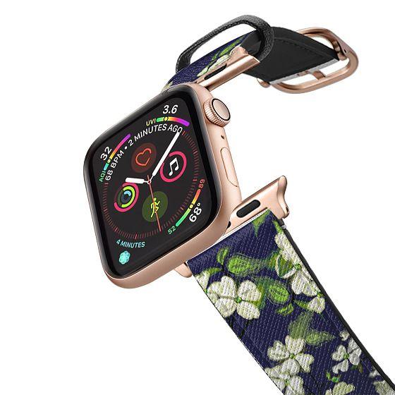 Apple Watch 42mm Bands - April blooms(Dogwoods-blue)