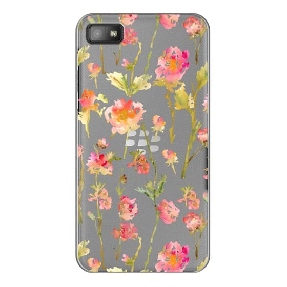 Blackberry Z10 Cases - Pale Roses Clear