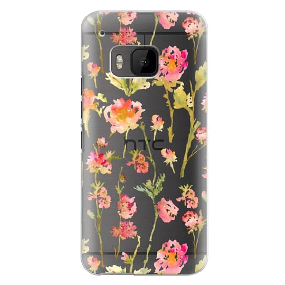 Htc One M9 Cases - Pale Roses Clear