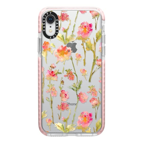 iPhone XR Cases - Pale Roses Clear