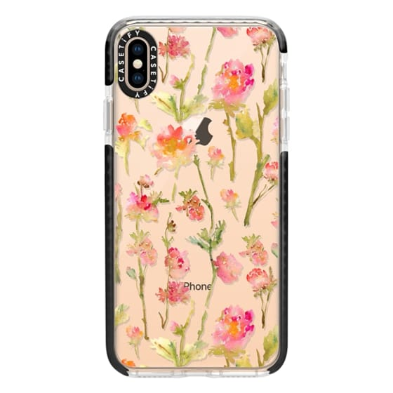 iPhone XS Max Cases - Pale Roses Clear