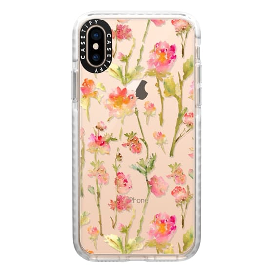 iPhone XS Cases - Pale Roses Clear