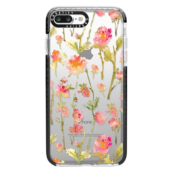 iPhone 7 Plus Cases - Pale Roses Clear