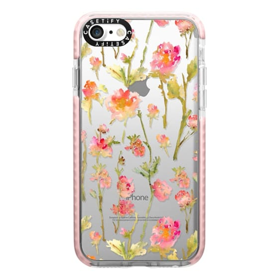 iPhone 7 Cases - Pale Roses Clear