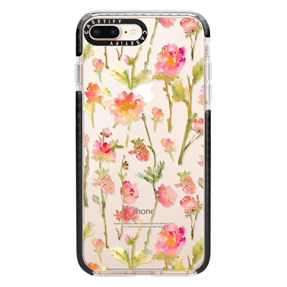 iPhone 8 Plus Cases - Pale Roses Clear