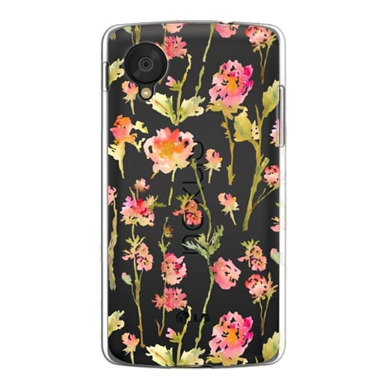 Nexus 5 Cases - Pale Roses Clear