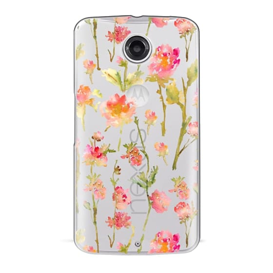 Nexus 6 Cases - Pale Roses Clear