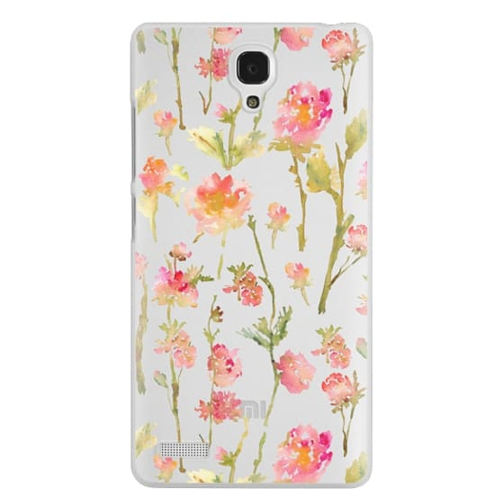 Redmi Note Cases - Pale Roses Clear