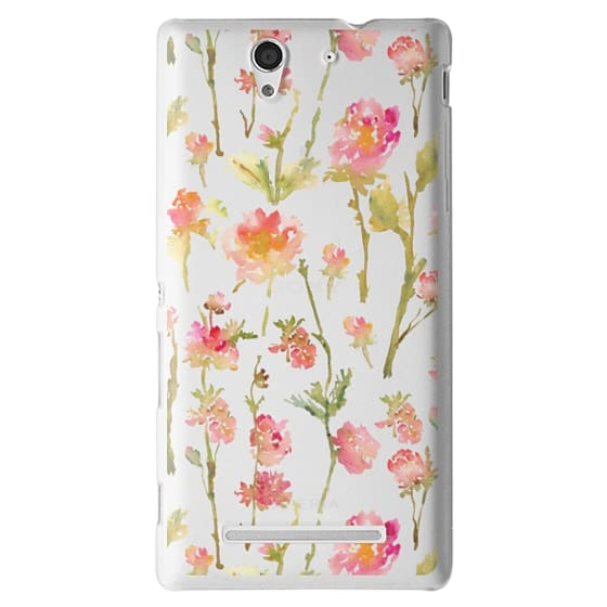 Sony C3 Cases - Pale Roses Clear