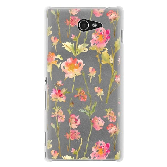 Sony M2 Cases - Pale Roses Clear