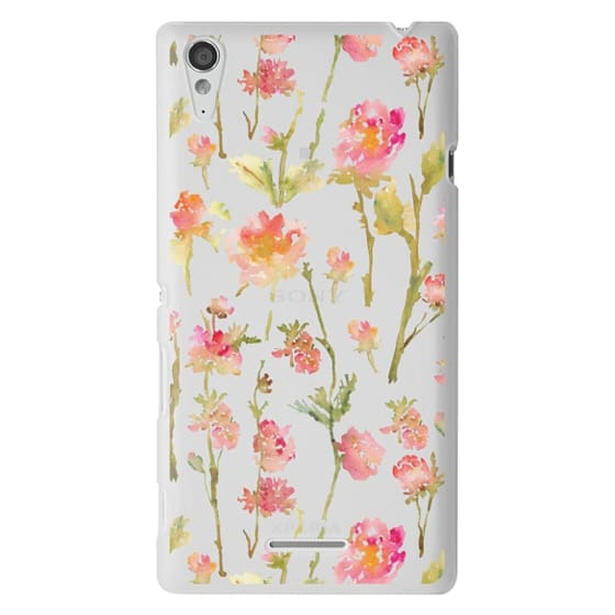 Sony T3 Cases - Pale Roses Clear