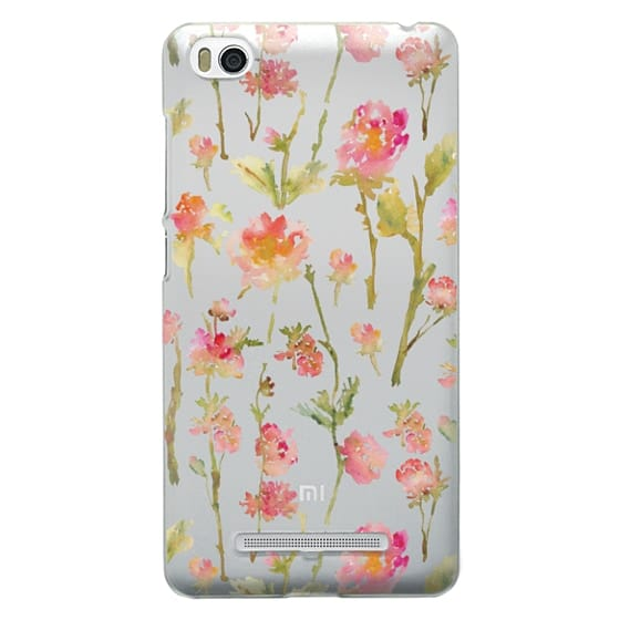 Xiaomi 4i Cases - Pale Roses Clear