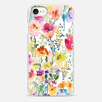 iPhone 7 Case Watercolor Flowers2