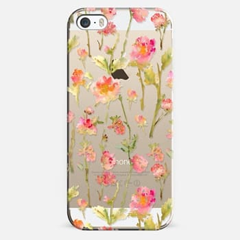 iPhone 5s Case Pale Roses Clear