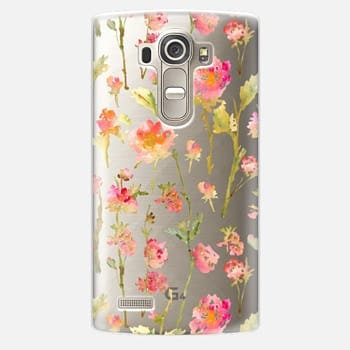 LG G4 Case Pale Roses Clear